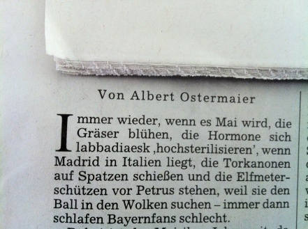 Ostermaier in der SZ